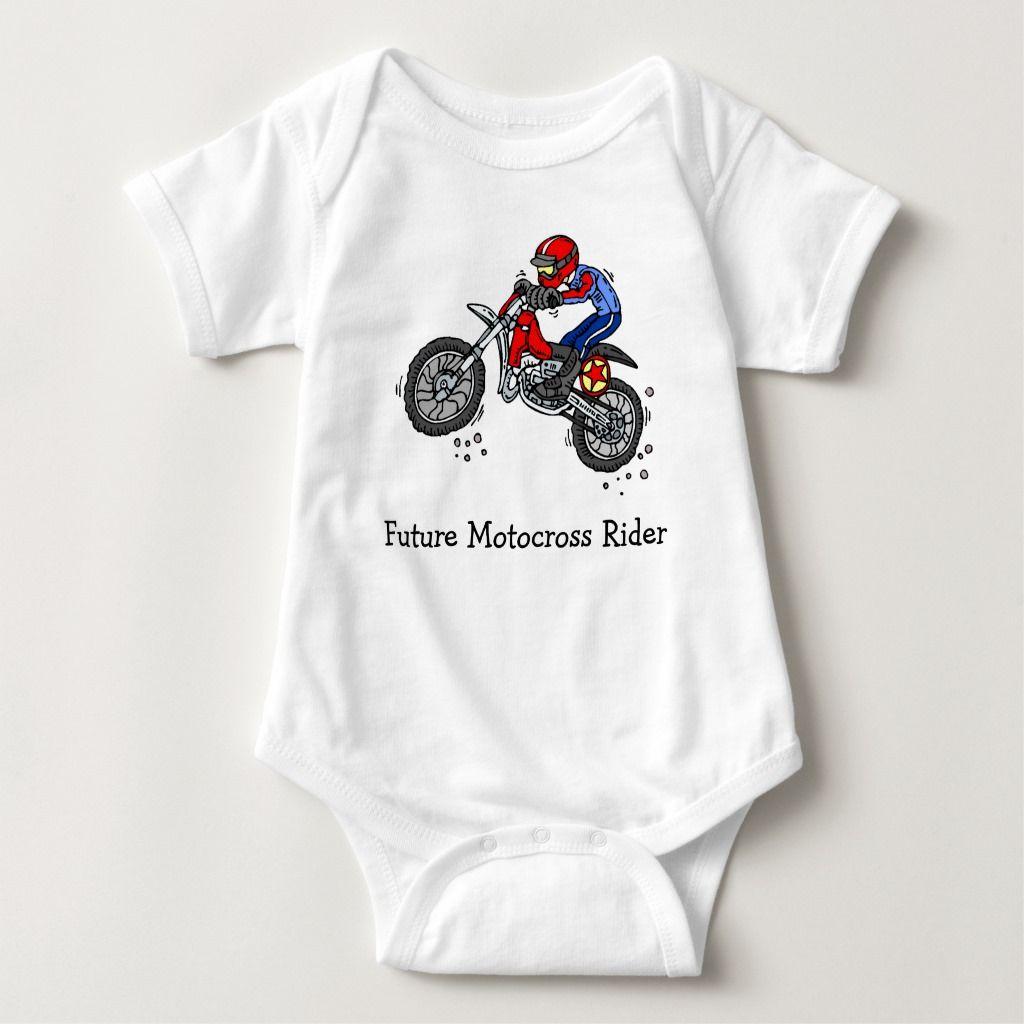 Future motocross rider baby bodysuit baby