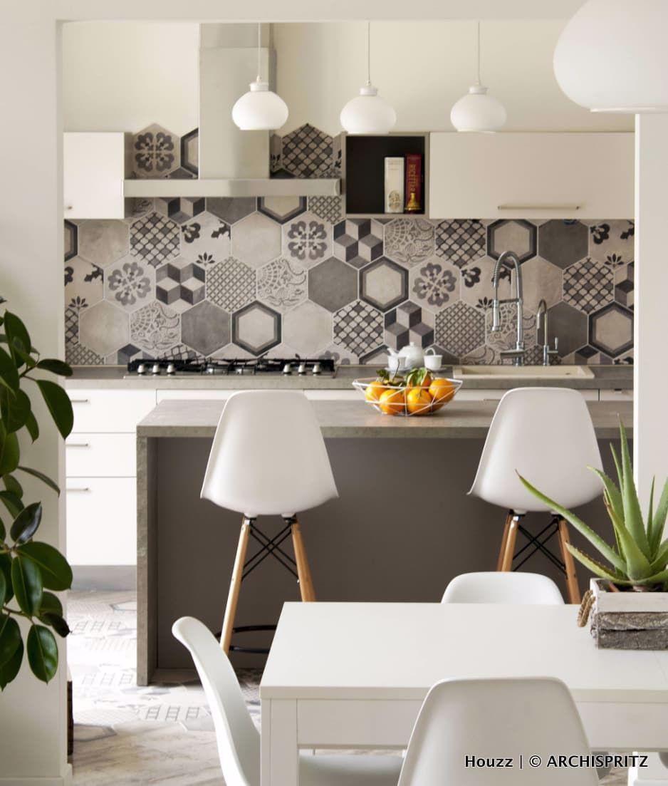 "Piastrelle Pvc Adesive Cucina houzz italia on instagram: ""progetto #cucina di archispritz"
