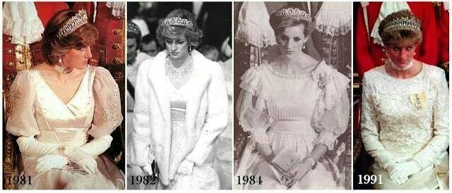Princess Diana at state opening of parliament in London