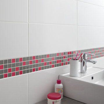 Carrelage Mural Loft Brillant En Faience Blanc Blanc N 0 20 X 50 2 Cm Carrelage Carrelage Salle De Bain Salle De Bain Design