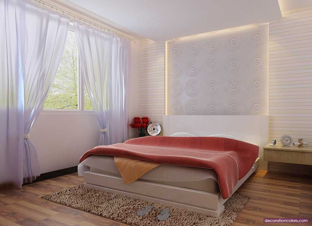 Perfect Vibrant Decor For Normal Minimalist Bedroom Design And Style Walls And  White Curtains   Http: