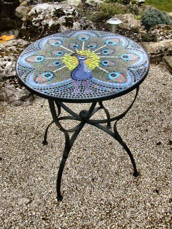 Mosaic Table Design Mosaics Glass Shimmery Shiny Sparkle