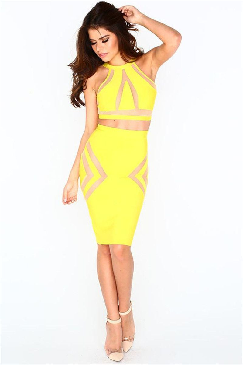 Yellow green dresses uk sale
