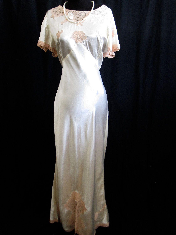 1930 wedding dress  HOLD ROBIN s Authentic Great Gatsby Art Deco Wedding dress Ivory