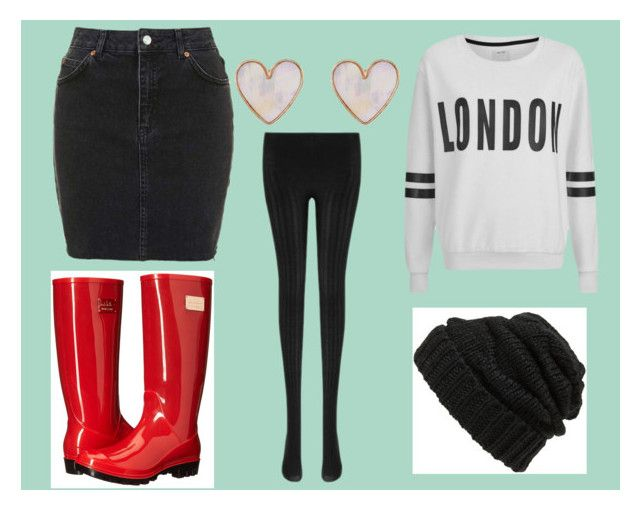 """Rainy Day in London"" by songbird1413 ❤ liked on Polyvore featuring Topshop, ONLY, Nicole Miller, New Look and Leith"