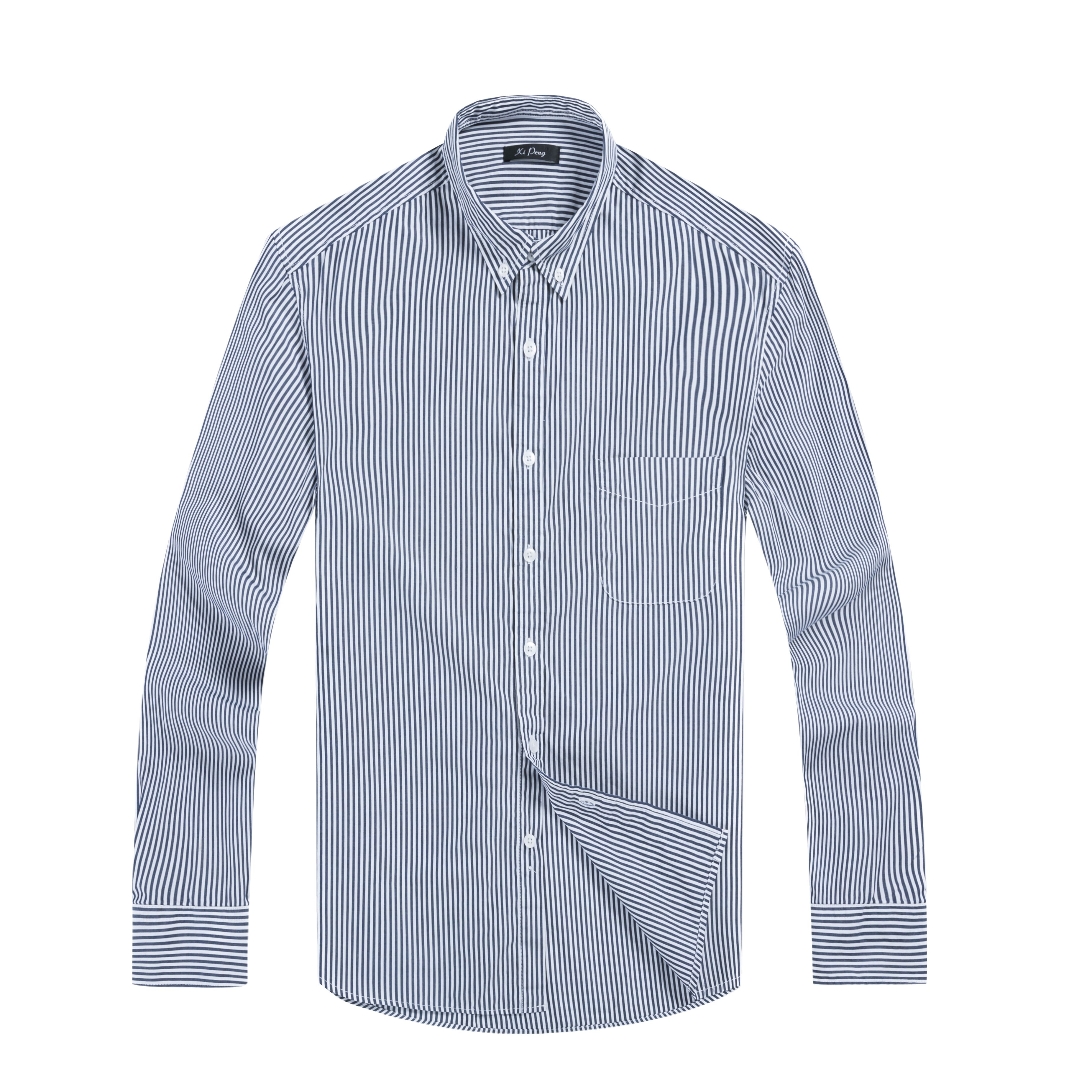 87d0aee092 This Shirt Featuring Slim Fit,Long Sleeve,Vertical Stripe Design,Button  Down Closure,Straight Turn Down Collar,Convertible Cuff,Front Chest Pocket  3.