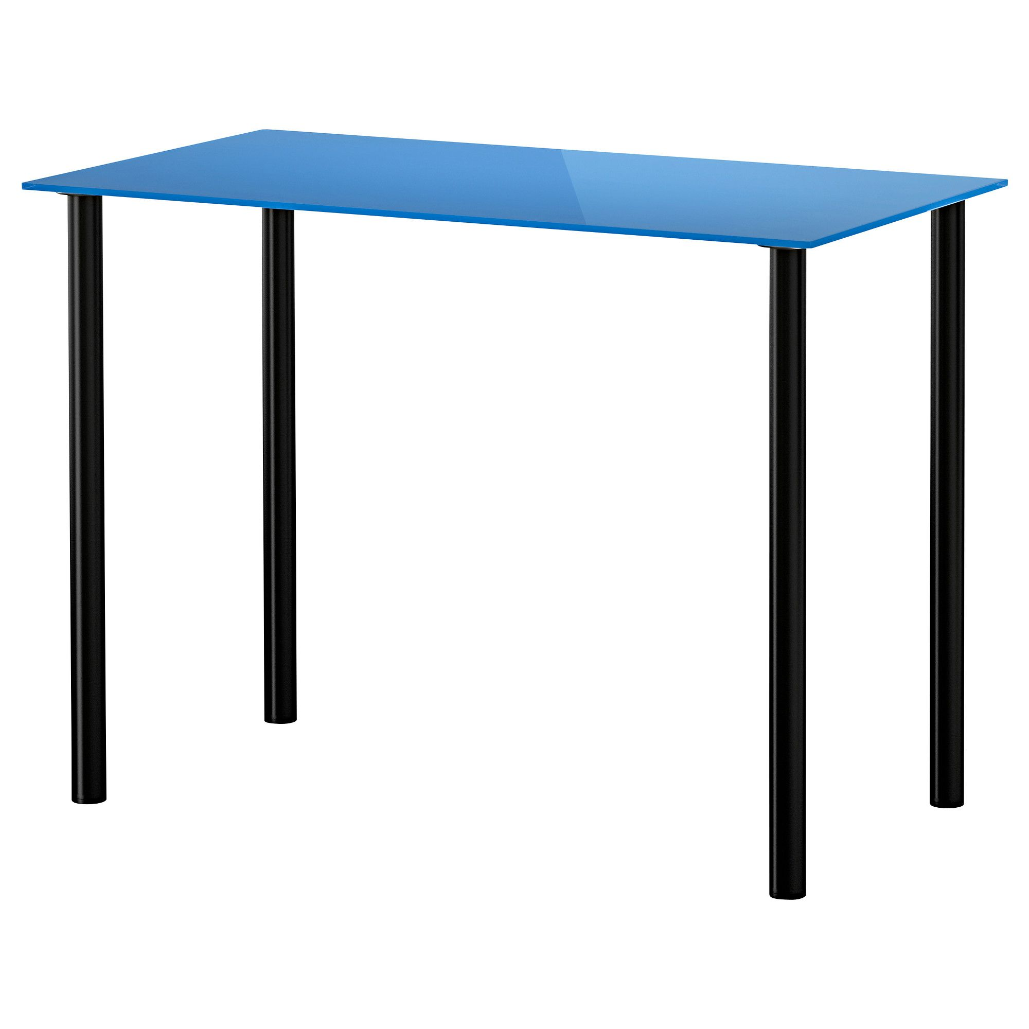 vika glasholm vika adils table glass blue black ikea office rh pinterest com