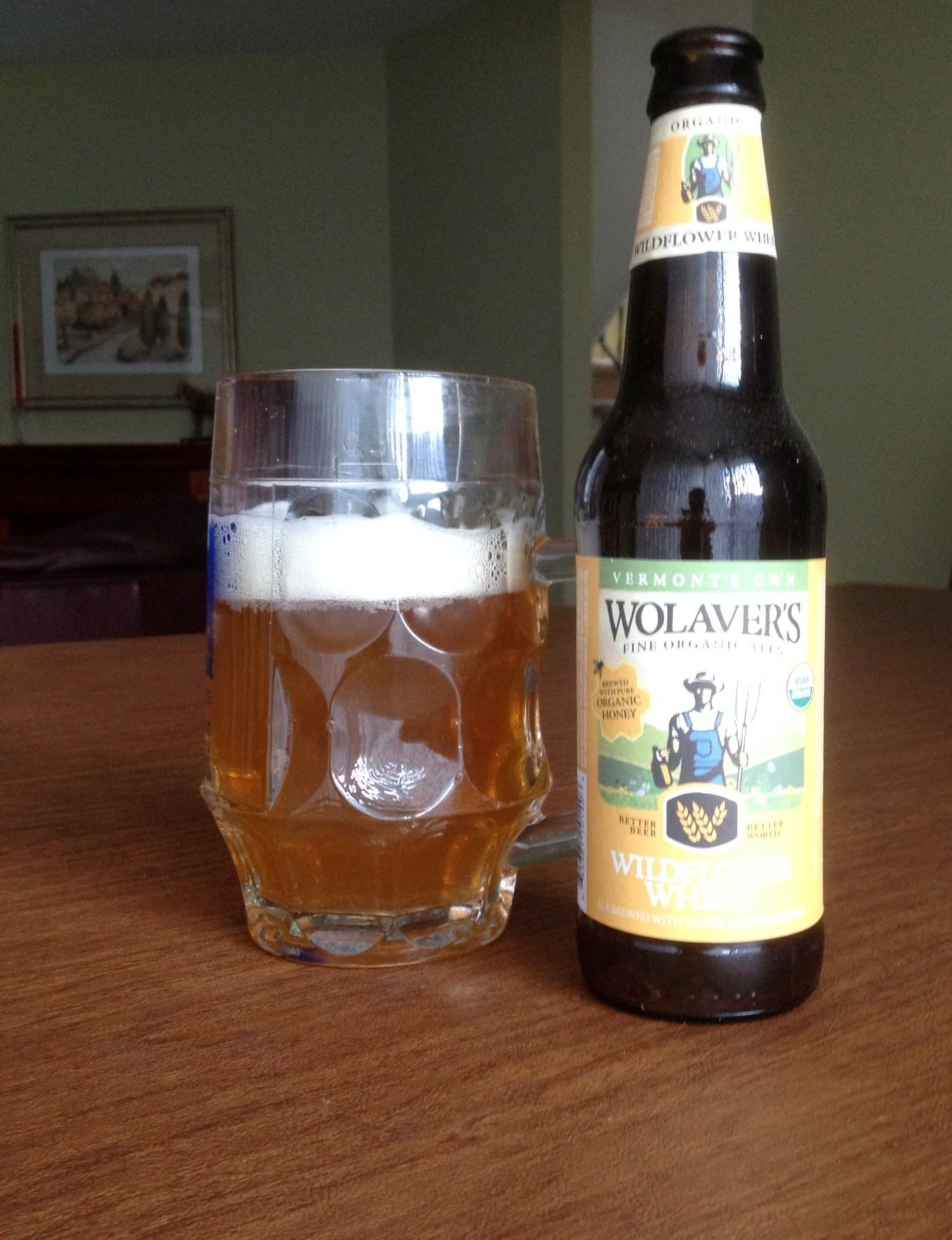 Wolavers's Wildflower Wheat: organic beer from Vermont
