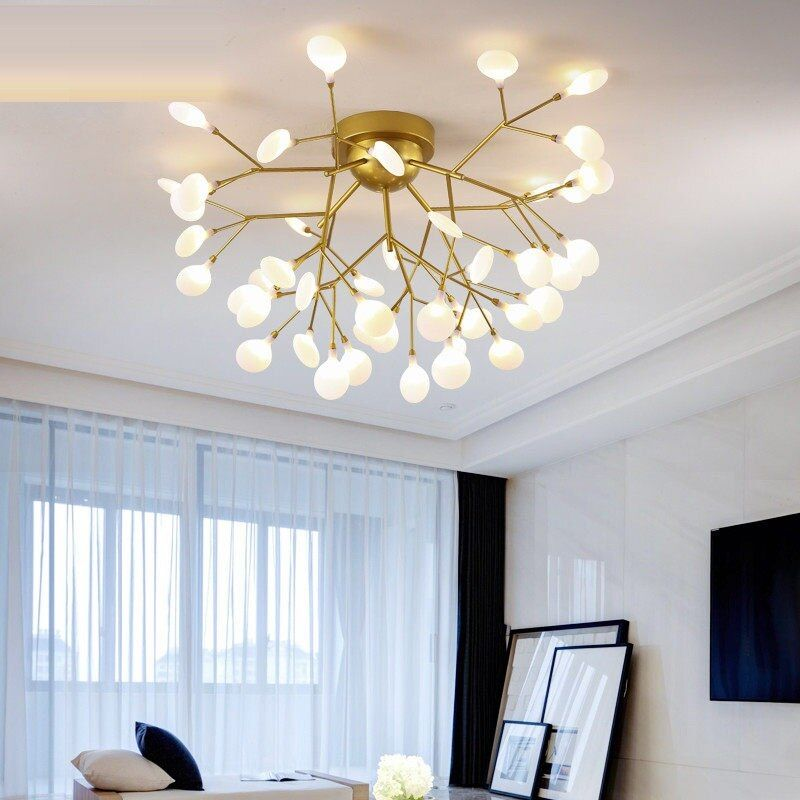 Hot Offer Modern Gold Black Led Ceiling Chandelier Lighting