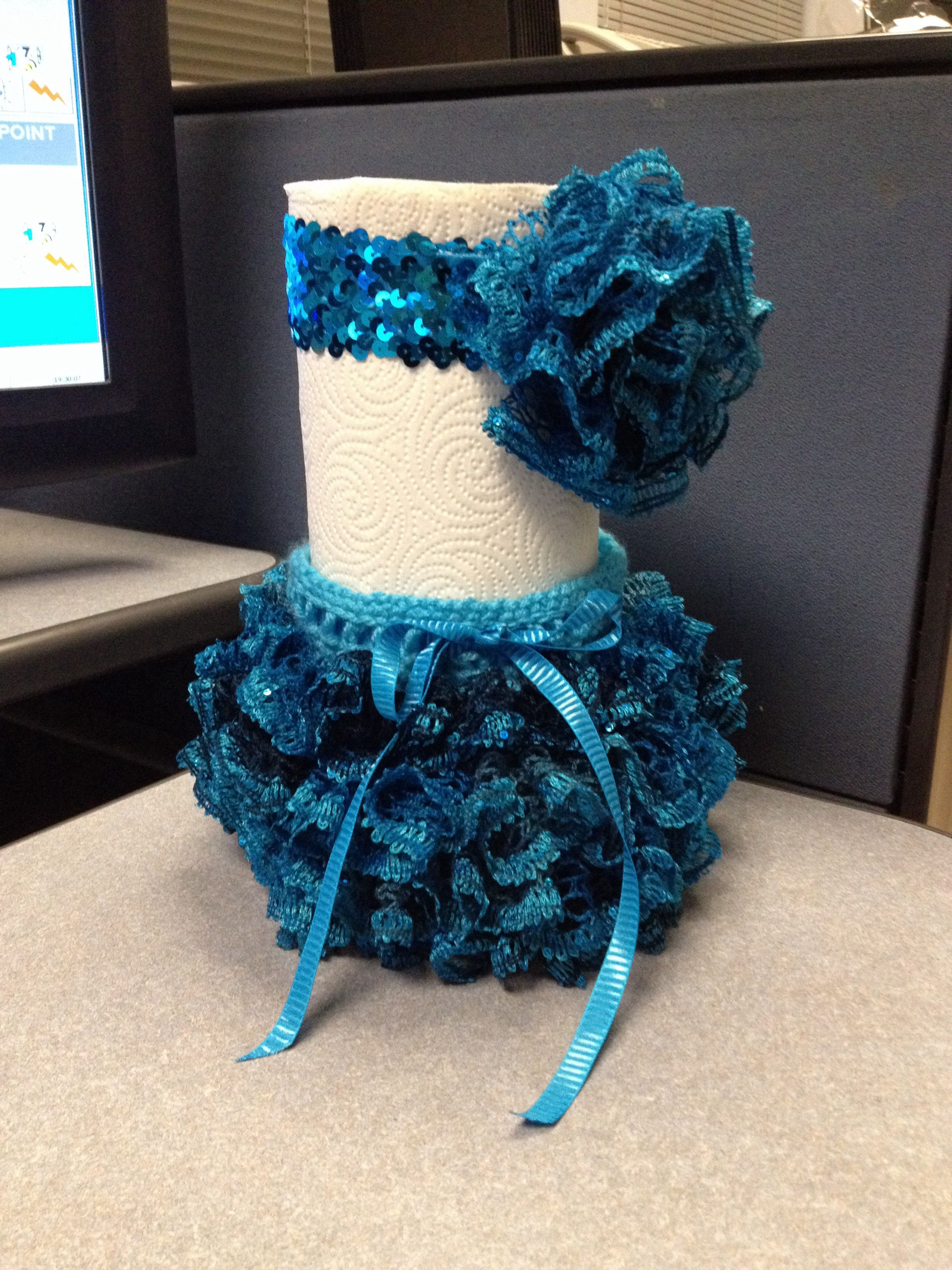 Baby skirt and headband crocheted with Sashay Ruffle yarn ...
