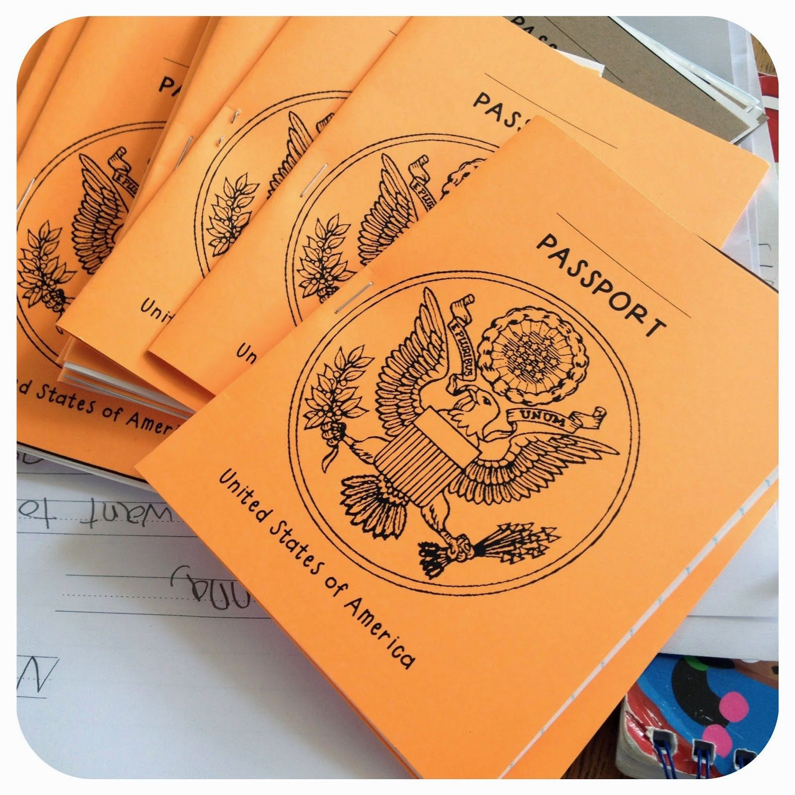 five for friday passport template template and social studies