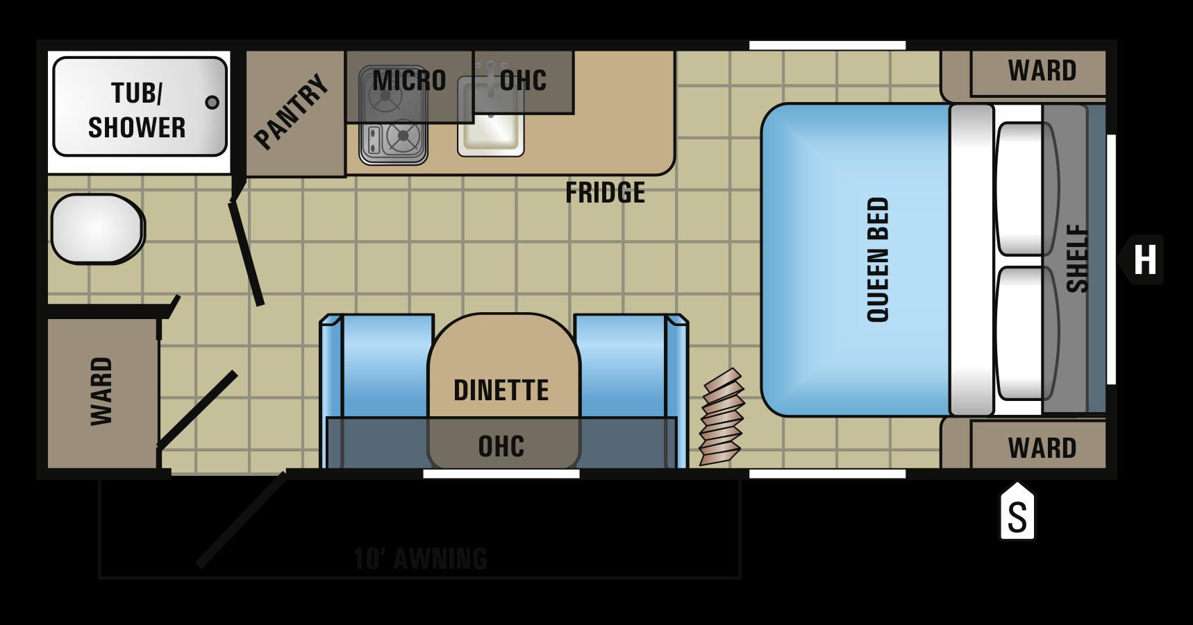 solaire ultra lite 239dsbh floorplan image campers pinterest