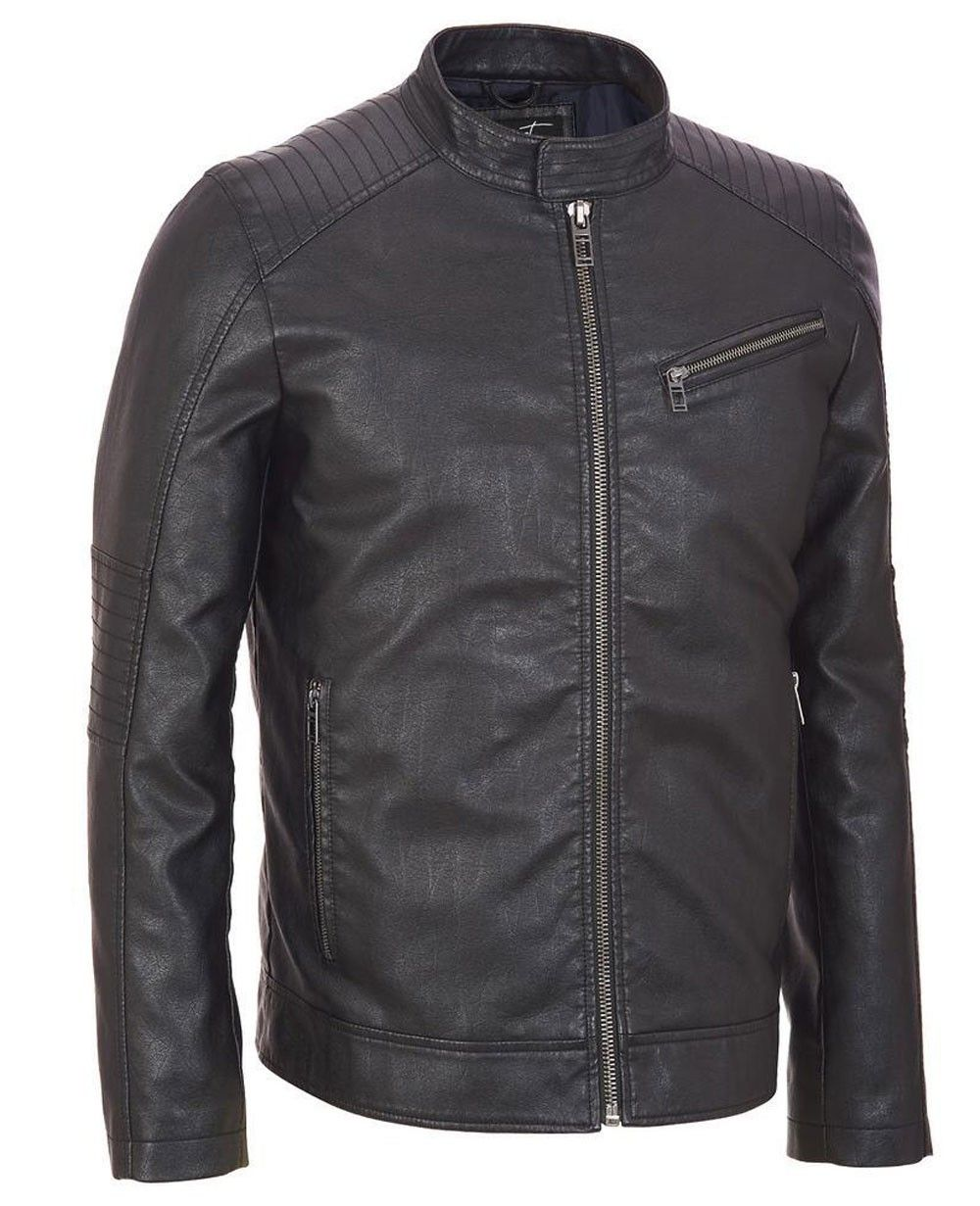 Http Www Quickapparels Com Best Selling Black Faux Leather Cycle Jacket Tab Collar Html Mens Big And Tall Jackets Clothing Brand [ 1231 x 1000 Pixel ]