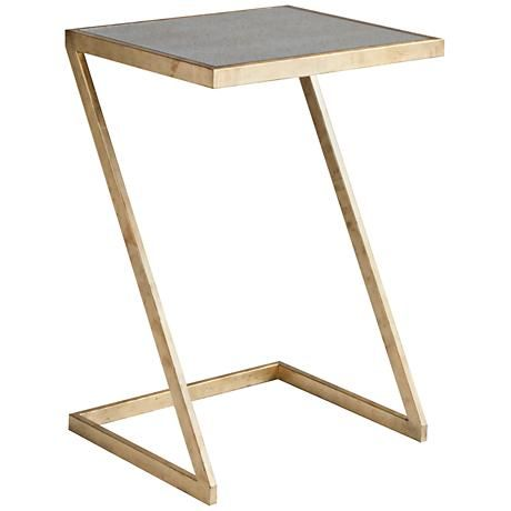 Dwell Studio Mansfield Mirror And Antique Gold Side Table Living