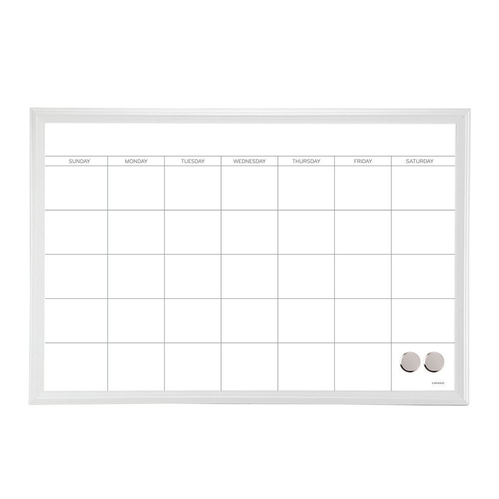 U Brands Magnetic Dry Erase Board, 20 x 30 Inches, White Frame ...
