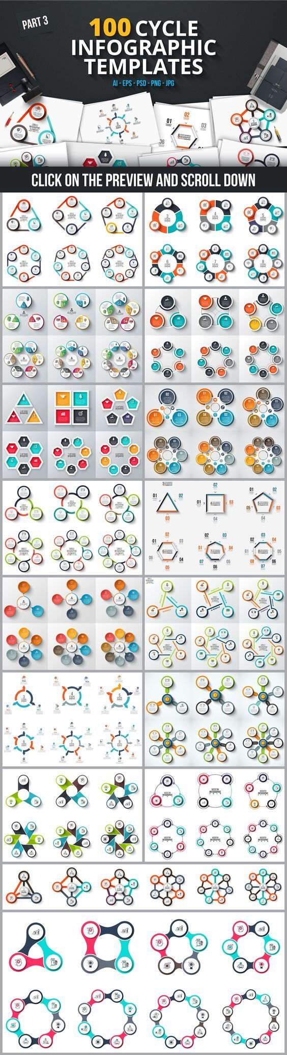 infographic templates bundle graphic design pinterest