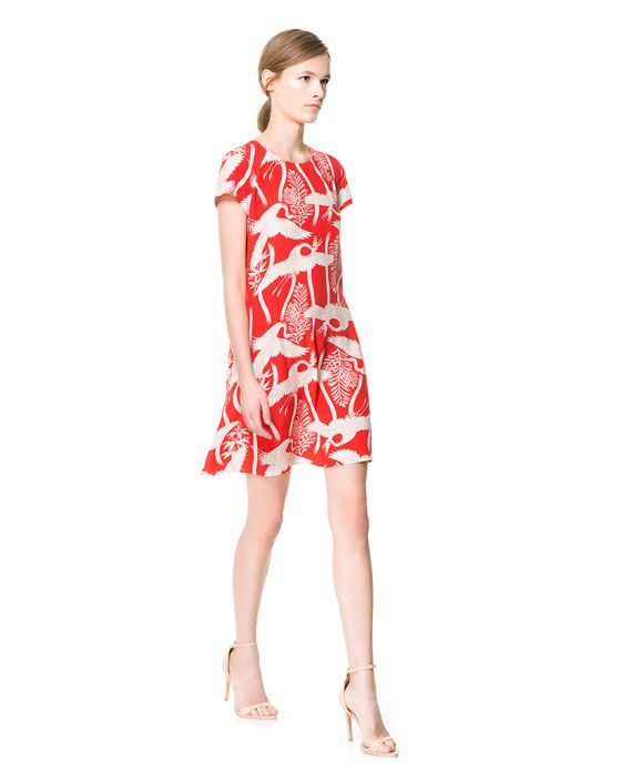 e95348c4 CRANE PRINT DRESS from Zara | Wardrobe | Fashion dresses, Fashion ...