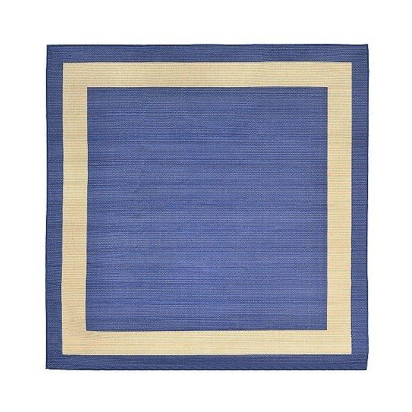 Terrace Indoor Outdoor Border Marine Square Rug 7 Blue 179 Liked