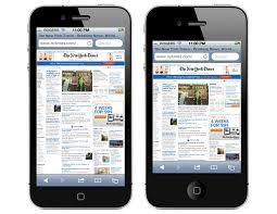 2010 iPhone 4 showing web page MOBILE