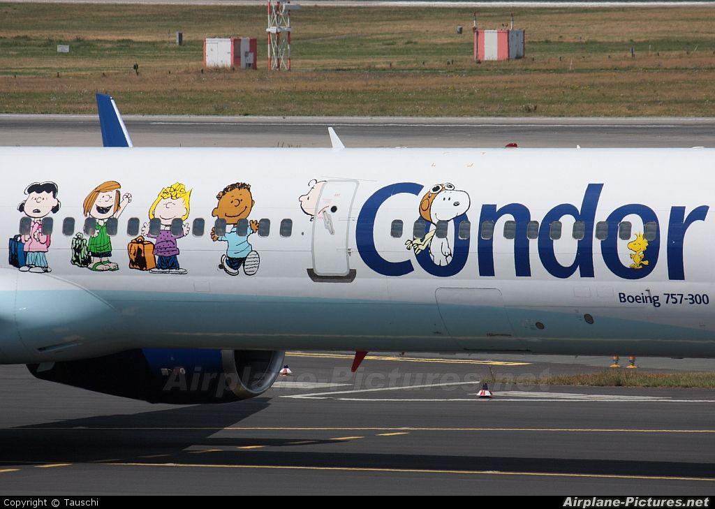 Condor Boeing 757300 DABOJ aircraft, with sticker