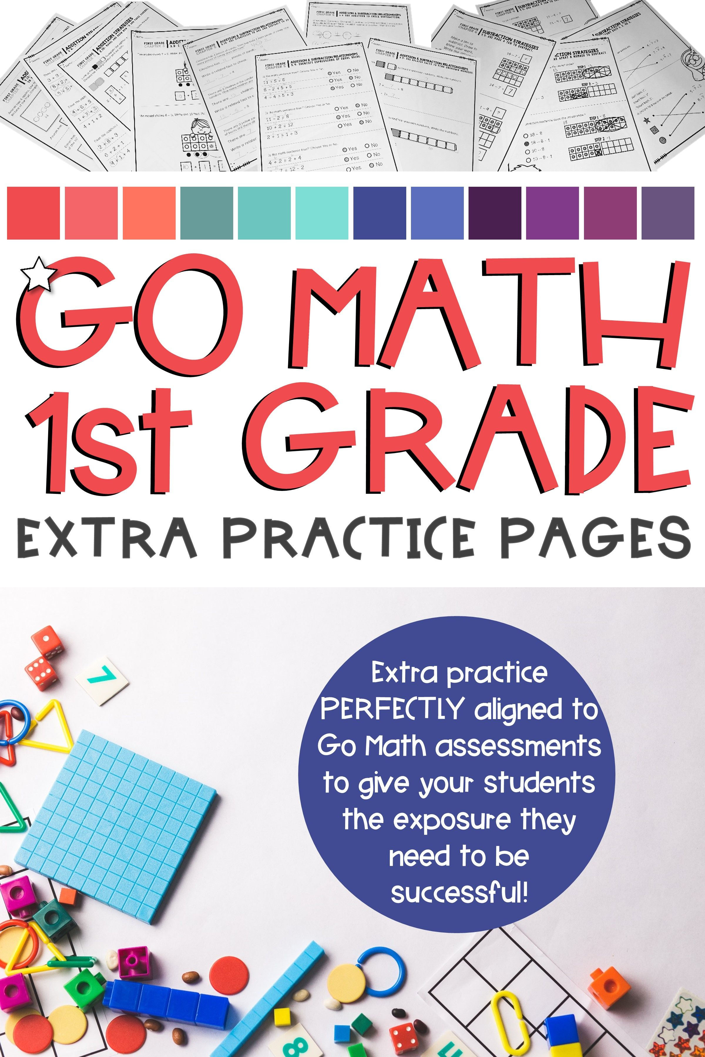 Go Math First Grade Bundle