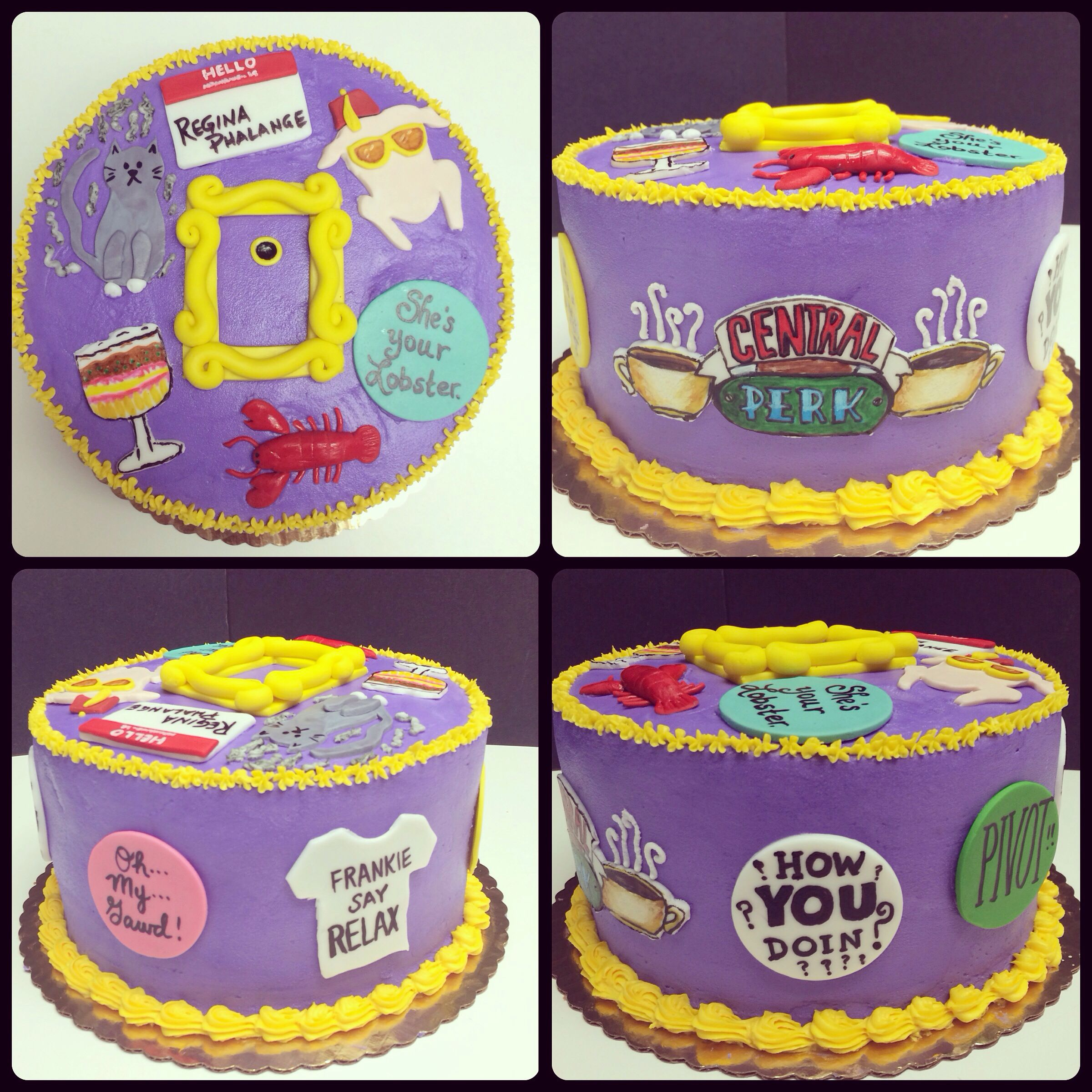 Marvelous Friends Tv Show Themed Cake Might Use This Idea For My Little Funny Birthday Cards Online Alyptdamsfinfo