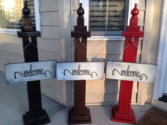 Welcome Sign Decor Fair Welcome Sign Post Porch Post Porch Decor Welcomehopedriven Decorating Design