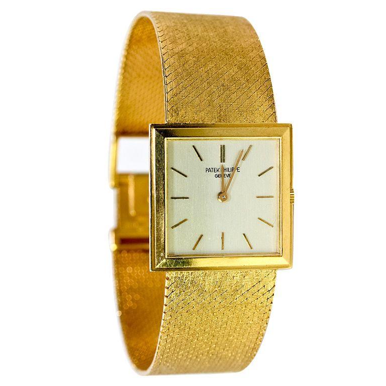 "PATEK PHILIPPE Gold Bracelet Watch, 8"", Documents"