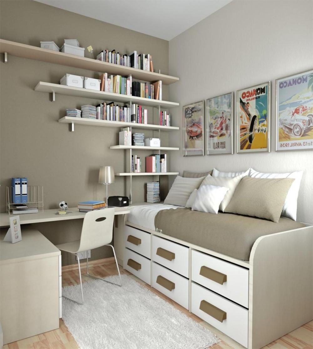 Charming Concept From Teenage Bedroom Ideas: Homely Teenage Bedroom Ideas  Set Corner Desk Chair Above. Space Saving ...