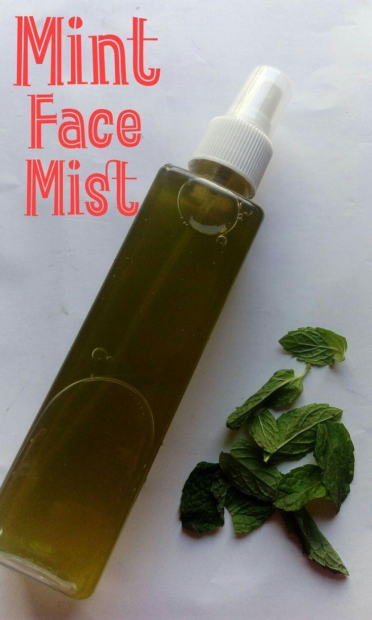 Diy cooling mint face mist homemade skin toner face