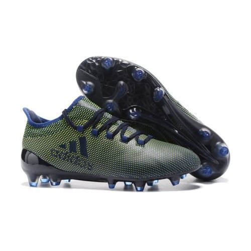 Adidas X 17.1 crampons pour terrain sec tpu Noir verte Bleu