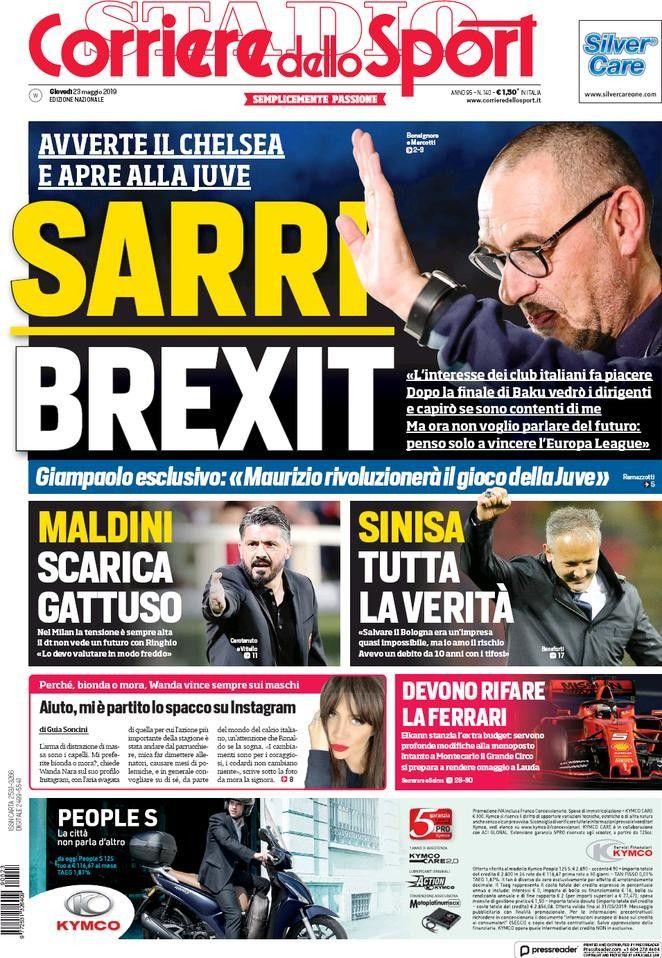 Corriere dello Sport (23 de mayo de 2019)