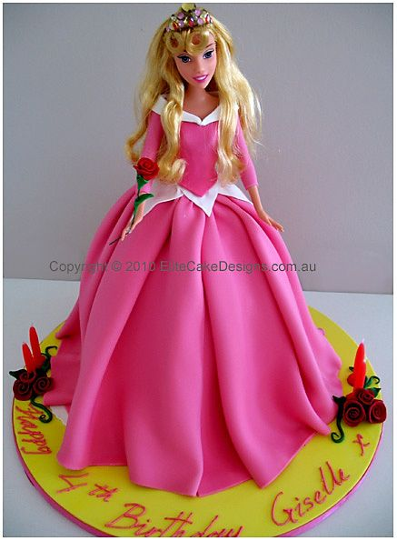 This Sleeping Beauty cake would make any girls day special Its