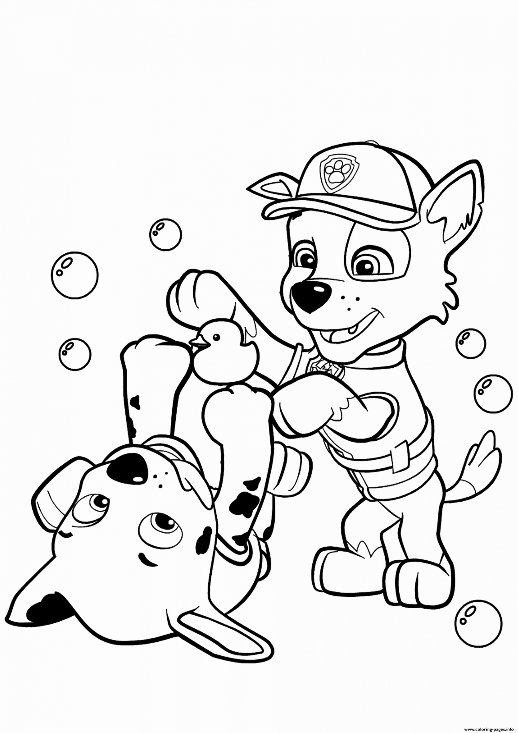 Marshall Paw Patrol Coloring Page Inspirational Paw Patrol Rocky And Marshall Coloring Pa Paw Patrol Coloring Pages Paw Patrol Coloring Birthday Coloring Pages