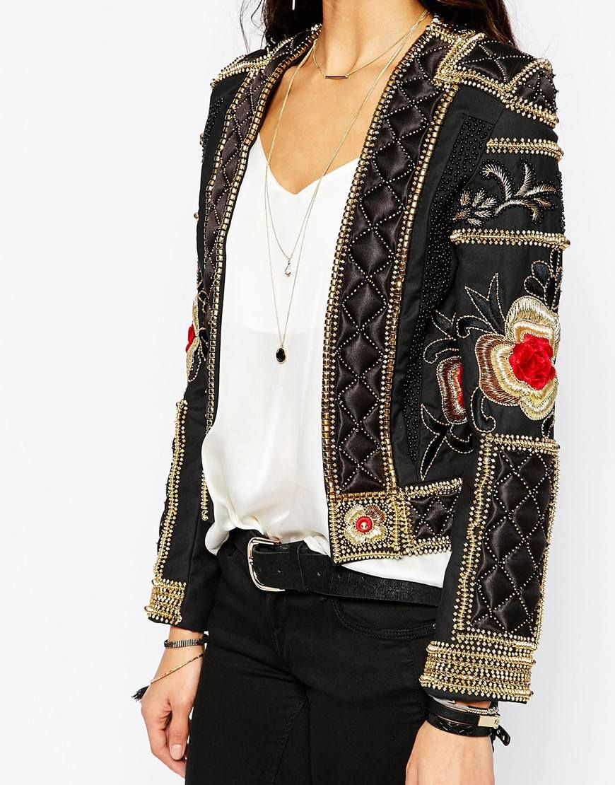 Allover Luxe Embellished Trophy Jacket - A Star Is Born via Asos