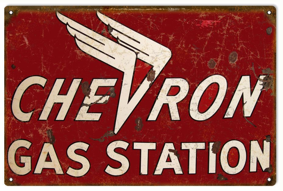 GARAGE FILLING STATION VINTAGE STYLE  METAL SIGN 2 SIZES TO CHOOSE FROM