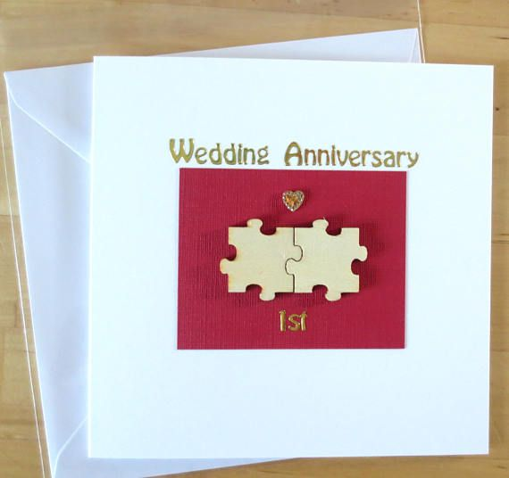 6th Wedding Anniversary Gift Ideas For Husband: Wedding Anniversary Card Gift, Wooden Puzzle 1st First