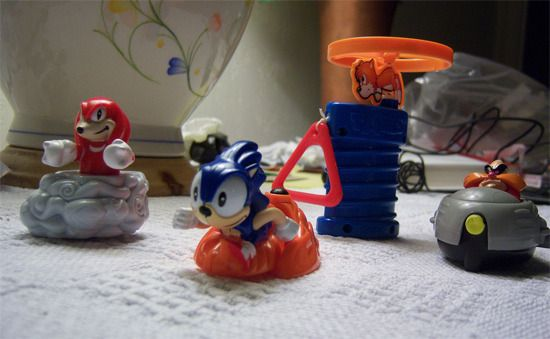 Toys Of Yesterday Sonic 3 Mcdonalds Happy Meal Toys Tomopop