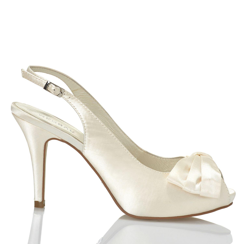 Zapato de novia en satín con lazo de Menbur (ref. 5183) Satin with · Wedding  HeelsBridal ... 6280ba05375