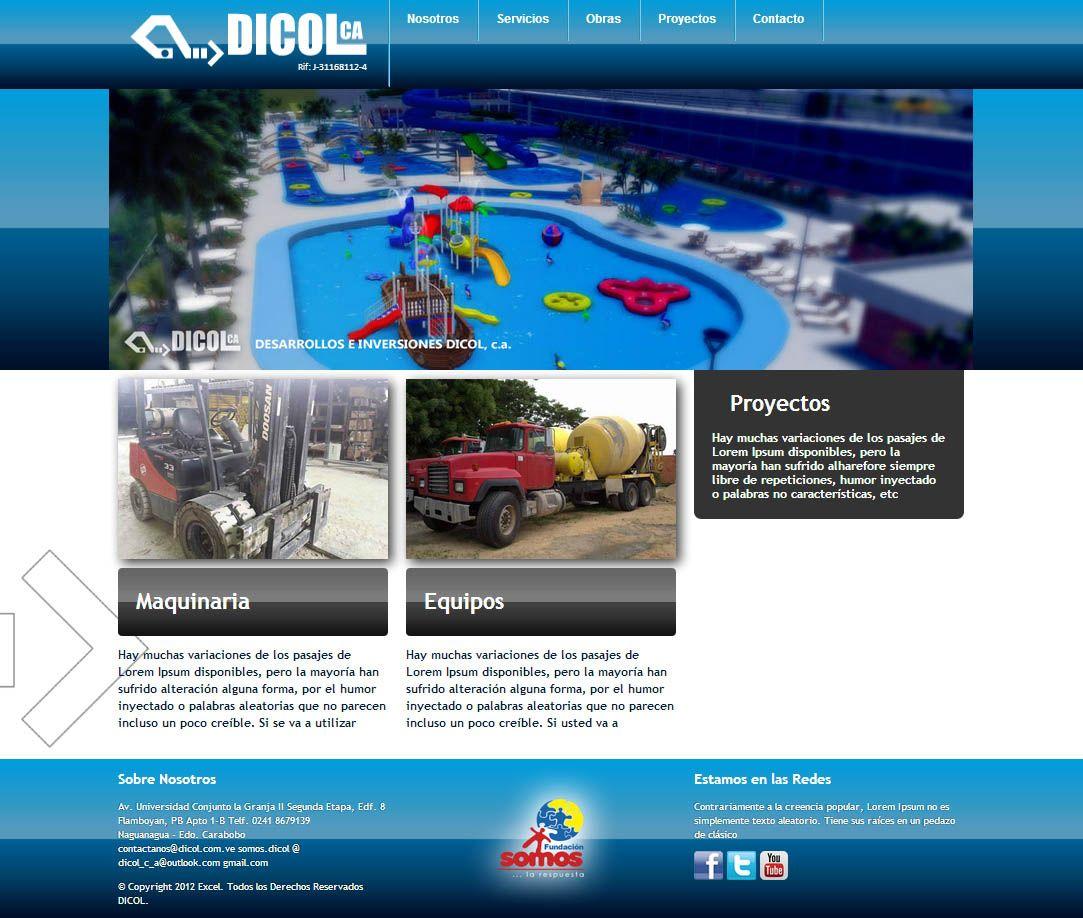 diseño web: por marcos hernandez. empresa: Desarrollos e Inversiones ...