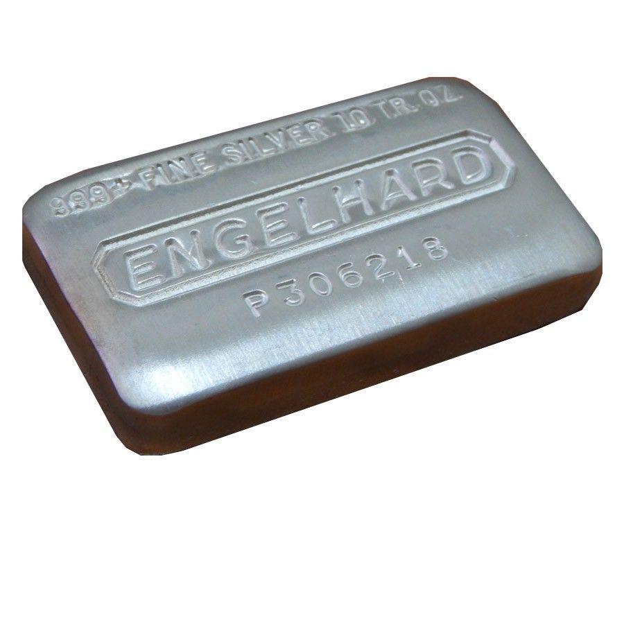 10 Oz Engelhard Cast Silver Bar 999 Fine Rare Silver Bars Silver Bullion Silver