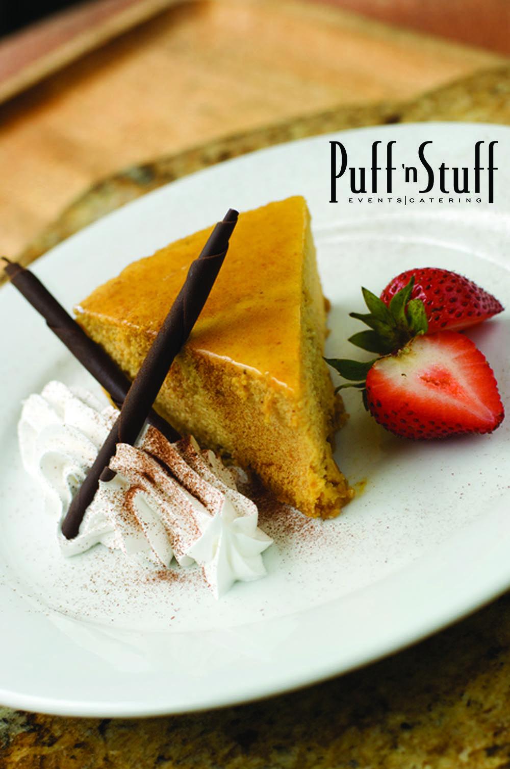Pumpkin Cheesecake Puff 'n Stuff Catering Tasty dishes