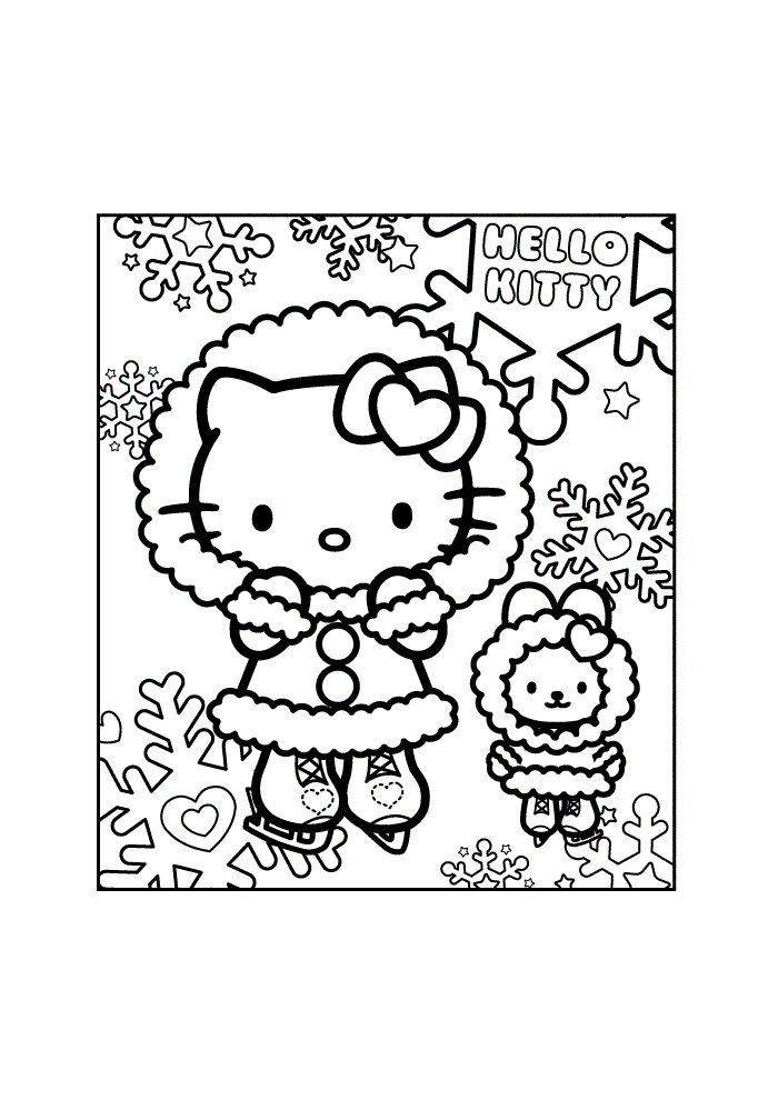 scene hello kitty coloring pages - photo#22