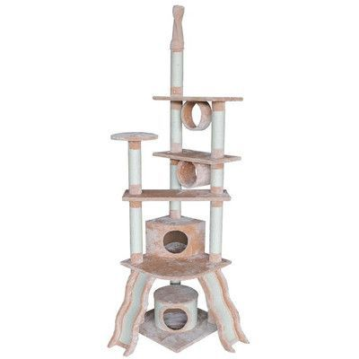 """Kitty Mansions 79"""" San Francisco Cat Tree Color: Beige"""
