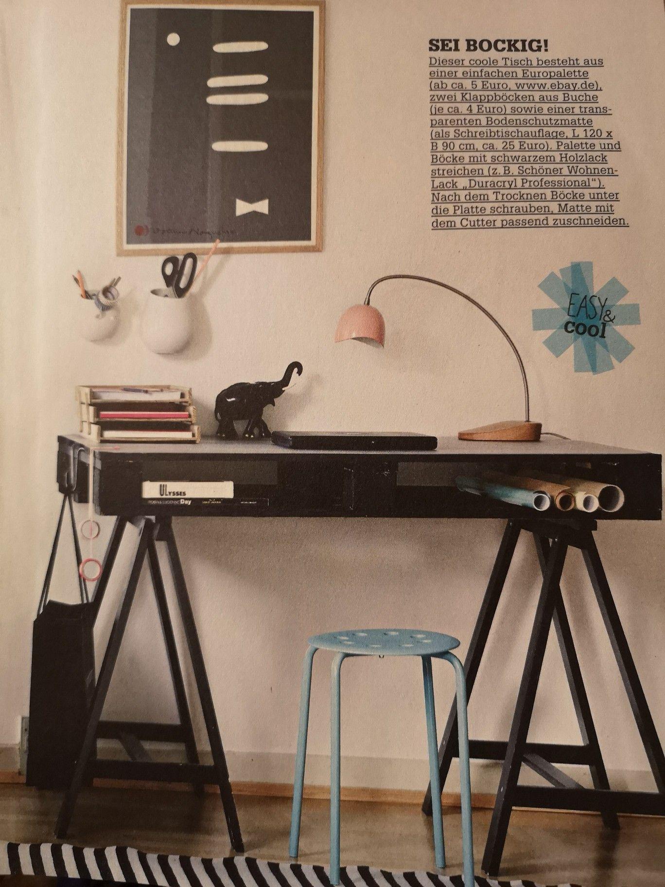 Couch Lifestyle Palettenschreibtisch Couch Wohnen Tisch