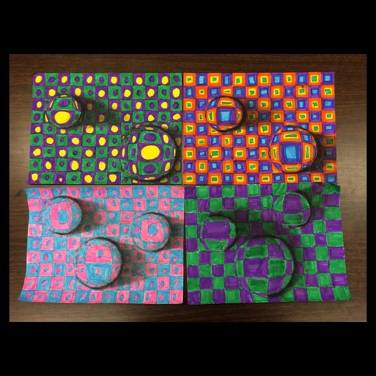 Op Art ART TEACHER HOLLY BRIGGS Grade Optical Illusions Tiered For All Ability Levels Two Color Challenge Pattern Three