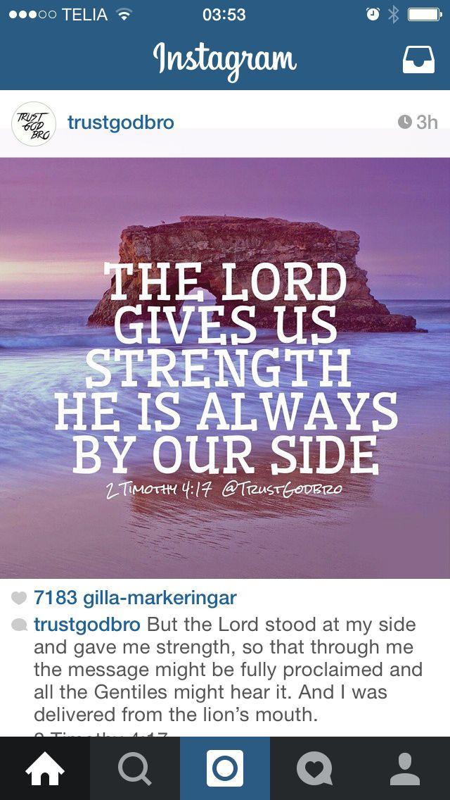 Gud ger styrka Gud, Tro, Styrka