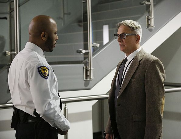 A covert identity created for one of Gibbs' undercover cases 20 years ago resurfaces after a murder victim is found living under the alias, on NCIS, Tuesday, Feb. 24 (8:00-9:00 PM, ET/PT), on the CBS Television Network. Pictured left to right: Boise Holmes and Mark Harmon Photo: Monty Brinton/CBS ©2015 CBS Broadcasting, Inc. All Rights Reserved