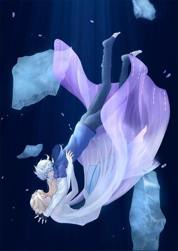 génial  Mot-Clé Jelsa   Elsa and Jack Frost Fan Art   Frozen 2/Rotg edit by Rina pixiv