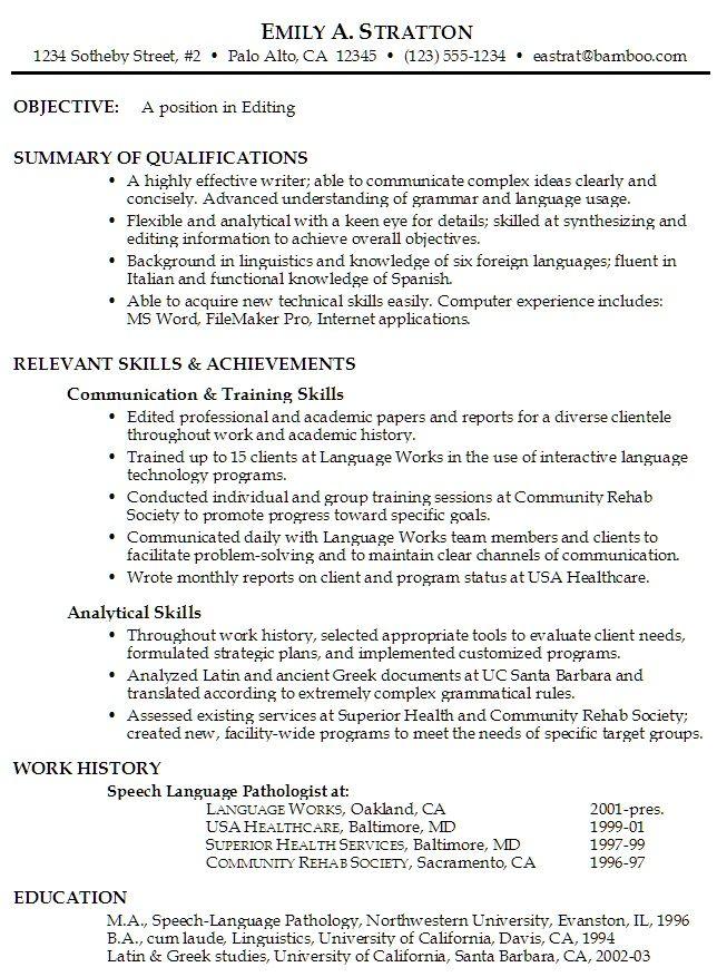 Job Resume Objective Examples   HttpTopresumeInfo